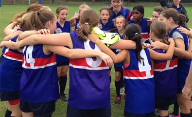 Girls Junior AFL Club in the hills