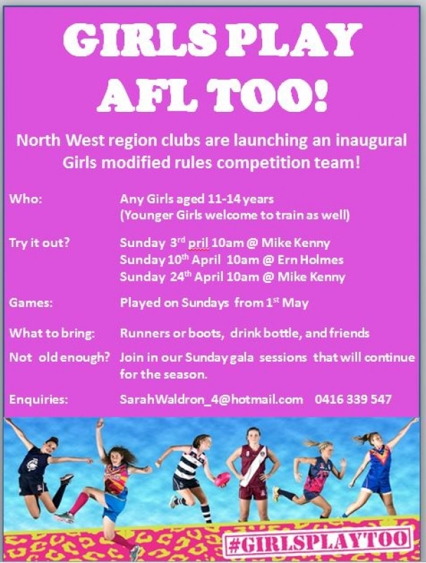 Inaugural Girls AFL