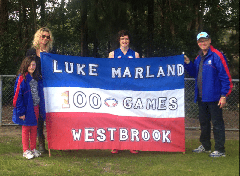 Luke Marland 100th game
