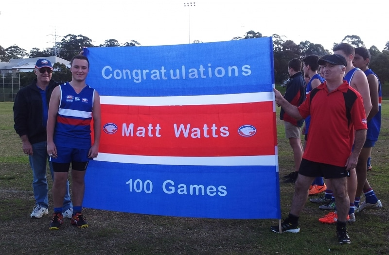 Matt Watts 100 games