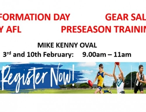 Information, Try AFL, Gear Sales, Training